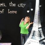 Tijana shows the decorative Eiffel tower at Top Marques Monaco