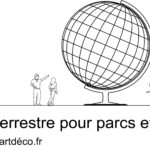 Globe terrestre géant - Monumental globe