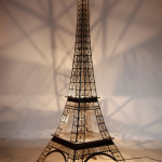 Luminaire Tour Eiffel effet or