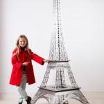 Tour Eiffel en Acier Silver effect