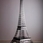 Tour Eiffel acier chromé